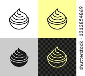 cream cheese line icon. soft... | Shutterstock .eps vector #1312854869