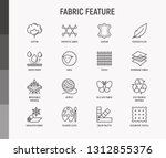 fabric feature thin line icons... | Shutterstock .eps vector #1312855376