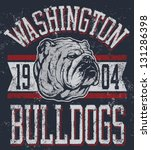 athlete,athletic,bulldog,design,illustration,mascot,muscular,powerful,profile,proud,retro,scowling,snarling,sports,strong