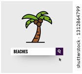 beaches written on a browser... | Shutterstock .eps vector #1312864799