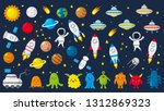 big set of cute astronauts in... | Shutterstock .eps vector #1312869323