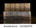 antique bible and church... | Shutterstock . vector #131286959