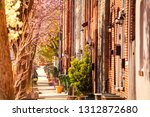 baltimore streets with brick... | Shutterstock . vector #1312872680