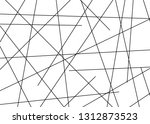 random chaotic lines abstract... | Shutterstock .eps vector #1312873523