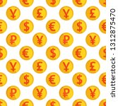 currency background wallpaper.... | Shutterstock .eps vector #1312875470