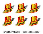 sale tag    percentage label... | Shutterstock .eps vector #1312883309