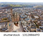 aerial view of french city of... | Shutterstock . vector #1312886693