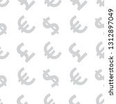 neutral background of currency. ... | Shutterstock .eps vector #1312897049
