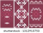 set of three vector vintage...   Shutterstock .eps vector #1312913753