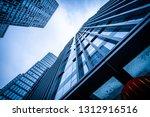 bottom view of modern...   Shutterstock . vector #1312916516