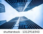 bottom view of modern... | Shutterstock . vector #1312916543