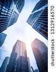 bottom view of modern... | Shutterstock . vector #1312916570