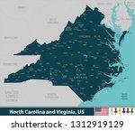 vector of north carolina and... | Shutterstock .eps vector #1312919129