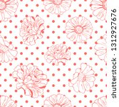 seamless pattern with flowers ... | Shutterstock .eps vector #1312927676
