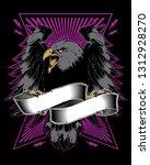 eagle bird with spread wings... | Shutterstock . vector #1312928270