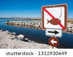 No Fishing Sign On The Banks Of ...
