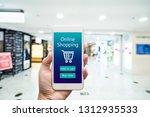 smart phone online shopping in... | Shutterstock . vector #1312935533