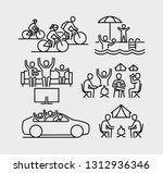 family leisure icons | Shutterstock .eps vector #1312936346
