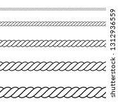 seamless of black outline rope... | Shutterstock .eps vector #1312936559