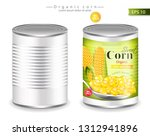 metallic canned corn vector... | Shutterstock .eps vector #1312941896
