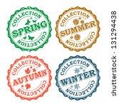 four season vector stamps... | Shutterstock .eps vector #131294438