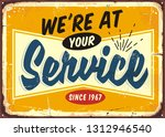 we are at your service retro... | Shutterstock .eps vector #1312946540