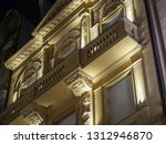the yellow facade of the old... | Shutterstock . vector #1312946870