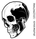 illustration of skull. design... | Shutterstock . vector #1312947446
