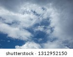 beautiful white clouds in summer | Shutterstock . vector #1312952150