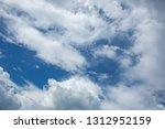 beautiful white clouds | Shutterstock . vector #1312952159