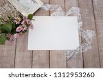 composition in vintage style.... | Shutterstock . vector #1312953260