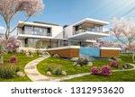 3d rendering of modern cozy... | Shutterstock . vector #1312953620