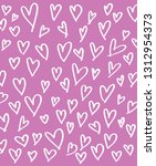 abstract heart pattern. ink... | Shutterstock .eps vector #1312954373