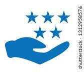 simple stars rating. blue... | Shutterstock .eps vector #1312958576