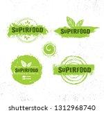 organic raw superfood vector... | Shutterstock .eps vector #1312968740