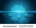 2d rendering cloud computing  | Shutterstock . vector #1312971620