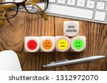 cubes with the german phrase... | Shutterstock . vector #1312972070