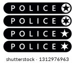 police label sticker. emergency ... | Shutterstock .eps vector #1312976963