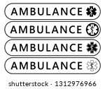 ambulance label sticker.... | Shutterstock .eps vector #1312976966