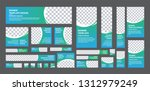 set of web banner of standard... | Shutterstock .eps vector #1312979249