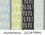 set of four simple patterns.... | Shutterstock .eps vector #1312979990
