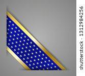 corner banner ribbon. blue with ... | Shutterstock .eps vector #1312984256
