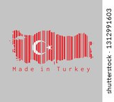 barcode set the shape to turkey ... | Shutterstock .eps vector #1312991603