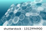 round shape vector abstract... | Shutterstock .eps vector #1312994900