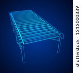 regular empty roller conveyor... | Shutterstock . vector #1313000339
