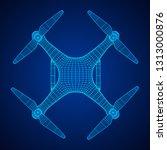 remote control air drone. dron... | Shutterstock . vector #1313000876