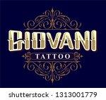 tattoo studio logo | Shutterstock . vector #1313001779