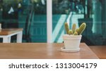 cactus on the table | Shutterstock . vector #1313004179