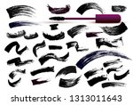 set of make up cosmetic mascara ... | Shutterstock .eps vector #1313011643