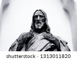 Black And White Statue Of...